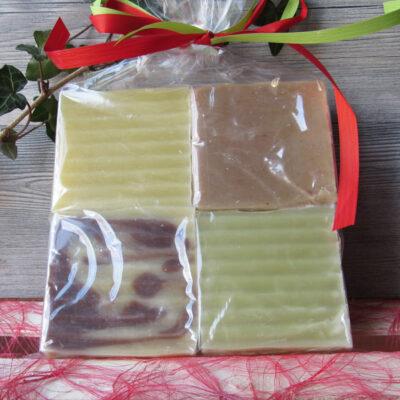 Sachets cadeaux de savons à composer ou composés par Christine