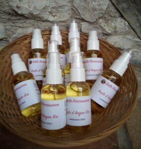 huile d'argan bio épiderme karité hydratation sébum