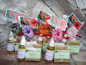 Coffret huile d'argan huile vierge massages peau sèche matures